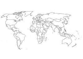 Kaart Wereldkaart Kleurplaat Ausmalbild Weltkarte Kategorien
