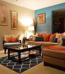 Burnt Orange And Brown Living Room Concept Interesting Inspiration Design