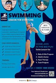 Download Free Big Fun Swimming Pool Flyer Design Templates