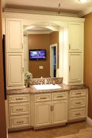 bathroom vanity with cabinet on top. bathroom vanity with linen cabinet | kids pinterest cabinet, vanities and on top