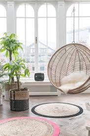 hanging bubble chair in the living room rattan furniture ideas