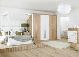 Make Your Own Canopy White Wooden Canopy Bed With Four Poles Also Curving Head Board