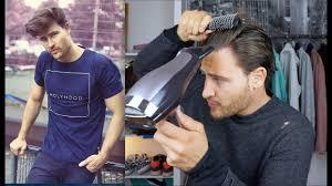 Haarstyling Tutorial Für Männer Bei Mittellangen Haaren