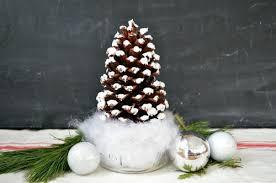 DIY Pinecone Ornaments U0026 My Tree  Shanty 2 ChicPine Cone Christmas Tree Craft Project