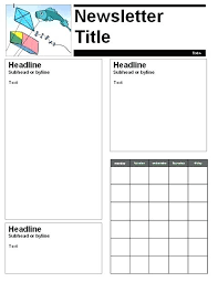 Monthly Newsletter Template For Teachers Kindergarten Newspaper Template Free March Newsletter Templates For