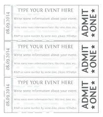 Concert Ticket Template Sample Example Raffle Templates