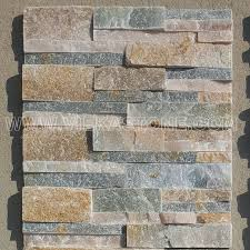 china beige slate stacked stone veneer feature wall cladding panel ledge stone natural split face mosaic