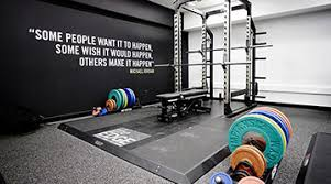 gym facilities squat rack and bench