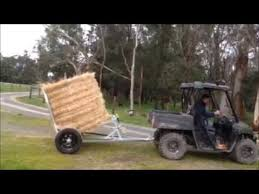 Round hay bale mover - YouTube