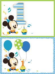 Mickey Mouse Invitation Cards Birthday