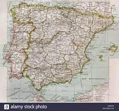 Spagna e Portogallo mappa politico Foto stock - Alamy