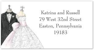 Bride And Groom Return Address Labels Storkie