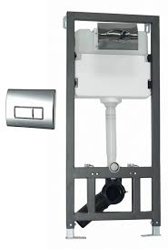 phoenix wc wall mount fixing frame with cistern and square face plate cc020
