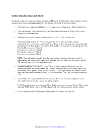 Microsoft Word Outline Template Research Paper Outline Template Pdfsimpli