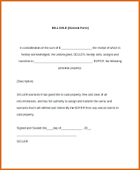 Bill Of Sale Template For Word - April.onthemarch.co