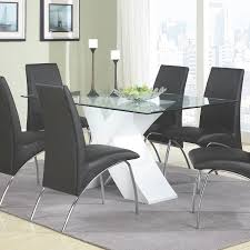 modern glass dining room sets. Dining Room:Irene Modern Room Set Along With Premium Photo Coaster Home Furnishings 120821 Glass Sets S