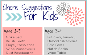 Free Printable Chore Charts For Kids The Little Years