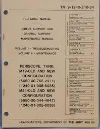 bpb surplus manuals military equipment manuals m m m19 m24 periscope tank maintenance manual