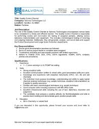 Business Description Template New Qc Chemist Jobs Resume Latest Qa ...