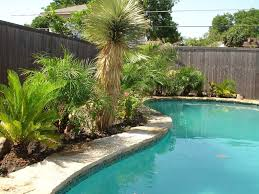 Small Picture Exterior Contemporary Wide Pool With Green Tree Decor Pool Side