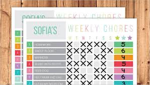 Free Chore List Charts Printable Chore Chart 16 Free Pdf Documents Download