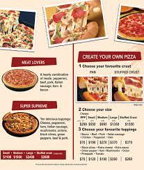 pizza hut menu 2014. Wonderful Menu Inside Pizza Hut Menu 2014