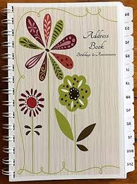 Birthday And Address Book Amazon Com Jdseals Print Address Book With A Z Tabs Birthday