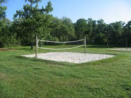 mini sand volleyball court recreational areas activities