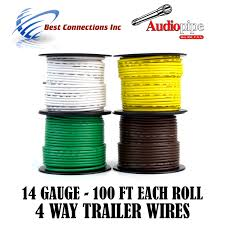 trailer light cable wiring for harness 100ft spools 14 gauge 4 click thumbnails to enlarge