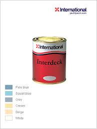International Deck Paint Colour Chart Interdeck Non Slip Topcoat 750ml By International Yacht