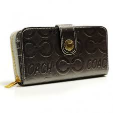 Coach Logo Large Silver Wallets BCM