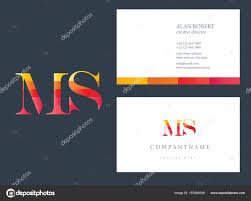 Multi Color Logo Business Card Template Stock Vector Deepzdzyn