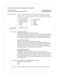 Resume Job Description Updated Sample Resume Undergraduate Teaching