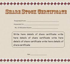 Stock Certificate Template 21 Stock Certificate Templates Word Psd Ai Publisher Free
