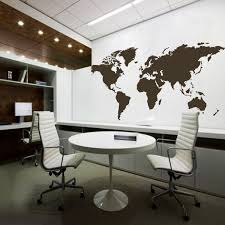 home office world. world map wall decal the whole atlas vinyl art sticker home office decor 64 e