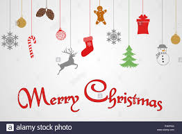 Christmas Design Template Merry Christmas Text Greeting Card Design Template Layout On White