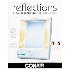 lighted makeup mirror walmart. conair tm8lx3 2-sided makeup mirror with 4 light settings - walmart.com lighted walmart w