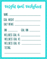 Daily Calorie Chart For Weight Loss Free Printable Weight Loss Goal Worksheet Debt Free Spending