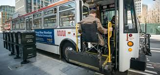 wheelchair lift bus. Fine Lift Passenger Using A Lift To Enter Bus Intended Wheelchair Lift Bus L