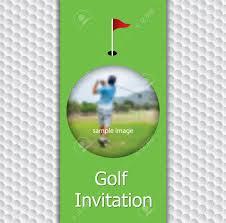 Golf Tournament Invitation Flyer Template Graphic Design On Golf