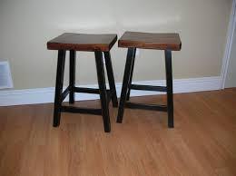antique white saddle seat bar stools