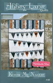 25 best Name Quilts images on Pinterest | Baby blankets, Baby crib ... & Know My Name Quilt Pattern Abbey Lane Quilts - Fat Quarter Shop Adamdwight.com