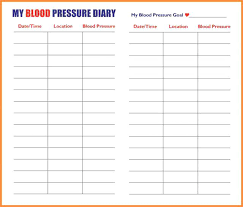 Blood Pressure Recording 11 Blood Pressure Record Sheet Proposal Agenda