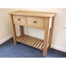 pine console table. Pine, 2 Drawer, Console Table. W90.5cm Pine Table