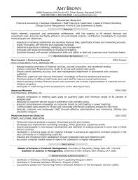 Resume For Analyst Job Financial Analyst Objective Resume Free Resume Templates 50