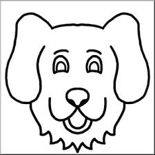 dog face clipart. Wonderful Dog Clip Art Cartoon Animal Faces Dog Bu0026W I Abcteachcom  Preview 1 To Face Clipart