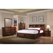 wood king bedroom sets. Fine Wood Rustic Classic Brown 4 Piece King Bedroom Set  Jessie With Wood Sets S