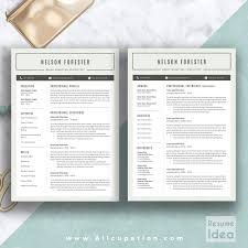 Creative Resume Template, Modern CV Template, Word, Cover Letter ...