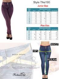 Details About Plus Junior Size Butt Lift Levanta Cola Skinny Denim Women Jeans