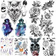 модные водонепроницаемые временные татуировки хны для мужчин нижнее